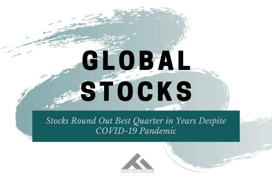 Stocks Round Out Best Quarter in Years Despite COVID-19 Pandemic